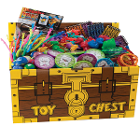 House Brand Assortment Of 200 Deluxe Toys - With Toy Chest. Assorted fun