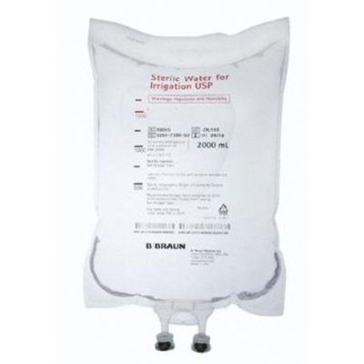 B. Braun Sterile Water for Irrigation 2000 mL bag