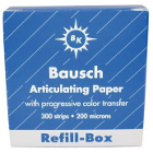 "Bausch .008"" (200 microns) BLUE Articulating Paper Strips, REFILL Box of 300"