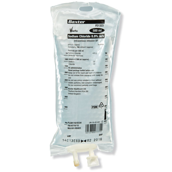 Baxter 0.9% Sodium Chloride Solution Injection,