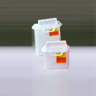 BD Nestable Sharps Containers 2 gallon Sharps Disposable Collector, Clear