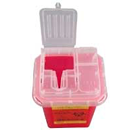 BD Sharps Collector 1 Quart, Red, Features Clear Top and Built-in Needle