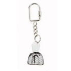 Bosworth Novelty Keychain - Mini Perforated Impression Tray, Stainless Steel. Single keychain