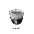 "Abbott-Robinson Straight HP Mounted Bristle Brushes, Large (7/16"") Cup Standard"