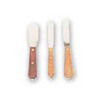 "Buffalo Dental #2R stainless steel spatula with 4"" Flexible Blade and Wooden"