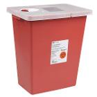 SharpSafety 18 gallons Sharp Disposal Container Red