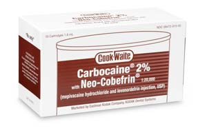 Cook-Waite Carbocaine 2% (Mepivacaine HCL 2%) Lo