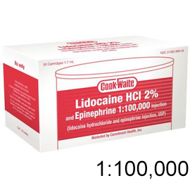 Cook-Waite Lidocaine HCL 2% with Epinephrine 1:10