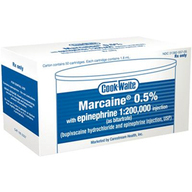 Cook-Waite Marcaine Bupivacaine 0.5% Local Anest