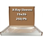 "Cargus 15"" x 26"" X-Ray Sleeves, Clear, Box of 250"