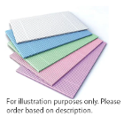 "Mark 3 Green Patient Bibs 13"" x 19"", 2-ply paper/1-ply poly, 500/bx. Increased"