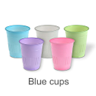 Mark 3 Disposable 5 oz Plastic Cups - Blue - 1000/Cs. Made with Polypropylene