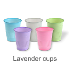 Mark 3 Disposable 5 oz Plastic Cups - Lavender - 1000/Cs. Made