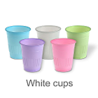 Mark 3 Disposable 5 oz Plastic Cups - White - 1000/Cs. Made with Polypropylene