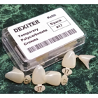 Dexiter #103 Upper Left Central Polycarbonate Temporary Crowns 5/Bx. *Comparable to 3M. Made