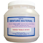 Teets Denture material methacrylate powder compound, Cold Cure, Veined tissue