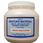 Teets Denture material methacrylate powder compound, Heat Cure, Veined tissue