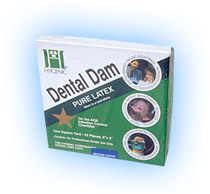 "Hygenic 6"" x 6"" Medium Green Rubber Dental Dam, P"