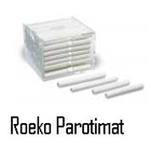 Roeko Parotimat Cotton roll dispenser, holds 50 Parotisrolls, endables individual removal