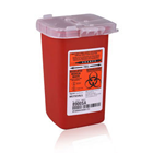 Kendall Phlebotomy Containers 1 Qt. Phlebotomy Sharps Container, Red