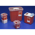 Kendall Phlebotomy Containers 2.2 Qt. Phlebotomy Sharps Container, Red