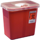 Kendall 8 quart Red Phlebotomy Sharps Container, 1/Pk