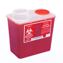 Monoject Medium 8 quart Sharps Disposal Container