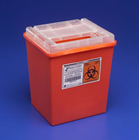 "Sharps Container 2 Gallon Red, Clear Lid. 10.1""H x 7-1/4""D x 8-1/2""W"