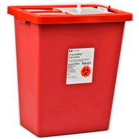 SharpSafety Sharps Containers 18 Gallon with Slid