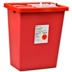"SharpSafety Sharps Containers 18 Gallon with Sliding Lid, Red. 26""H x 12-3/4""D"