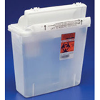 SharpStar In-Room 5 Qt. Clear In-Room Sharps Container with Counter Balanced Lid