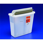 SharpStar In-Room 5 Qt. Clear In-Room Sharps Container with Mailbox-Style Lid