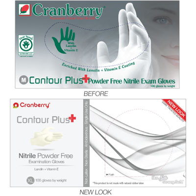Contour Plus Nitrile Exam gloves: SMALL 100/Bx. P