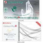 Contour Plus Nitrile Exam gloves: SMALL 100/Bx. Powder-Free, with Lanolin and Vitamin E