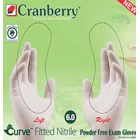 Curve Fitted Nitrile Exam Glove, Size 8 Non-sterile, Powder-Free