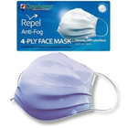 Repel Anti-Fog Earloop Mask SAPPHIRE 50/Box. 4-Ply Fluid Resistant