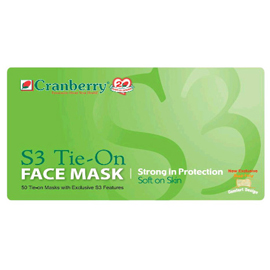 Tie 50 bx Blue Tie-on S3 Mask Face Fluid On Latex-free Resistant
