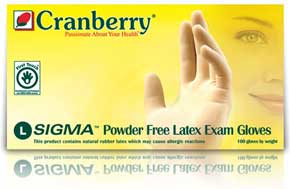SIGMA Latex Gloves: SMALL Powder-Free, Textured,