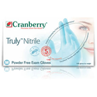 Truly Nitrile Exam gloves: SMALL Powder-Free 100/Pk Finger Textured, Blue