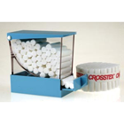 "Crosstex Deluxe Cotton Roll Dispenser, Blue, drawer style with hinged top, 4"" x"