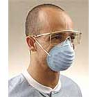 Crosstex Blue Surgical Molded Cone Utility Masks with Elastic Headband, Splash