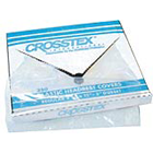 "Crosstex 9.5"" x 14"" White Plastic Headrest Covers. Manufactured from clear"