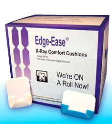 Edge-Ease X-ray Cushion - Large, Blue. Adheres to
