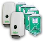 SaniTyze Promo Pack: 2 Wall Mounted Sanitizer Dispensers & 6 - 1000 mL