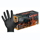 Black Maxx Latex Exam Gloves: Large, Black Color, Powder-free, Fully Textured