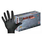 Black Maxx Nitrile Exam Gloves: MEDIUM Powder-Free 100/Bx. Fingertip-Textured