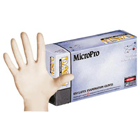 MicroPro Latex Gloves: LARGE Powder-Free, Textured, Non-Sterile 100/Bx