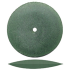"Dedeco Rubber Wheels Green Coarse Knife Edge, 7/8"", Silicon Carbide, Standard"