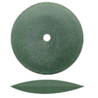 "Dedeco Rubber Wheels Green Coarse Knife Edge, 5/8"", Silicon Carbide, Standard"