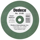 Dedeco Lathe Wheels Green Medium, Rubber-Bonded Wheel for Rapidly Removing Scratches (5148)